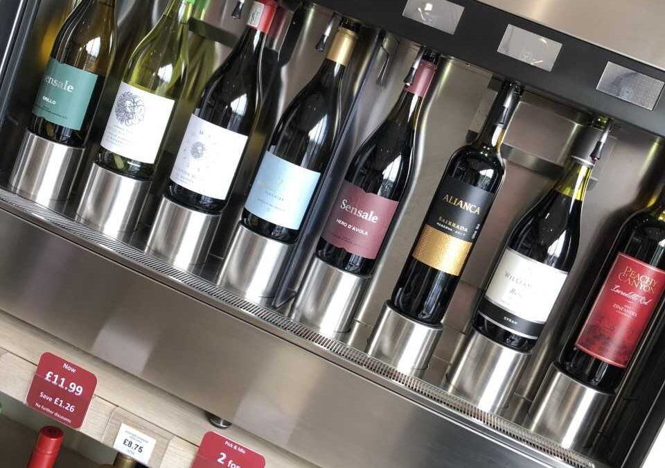 Our wine tasting machine is back in action!